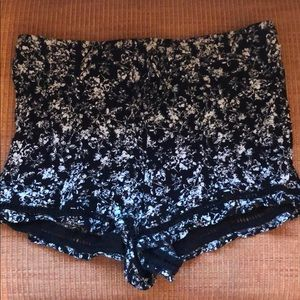 Black and white floral shorts!